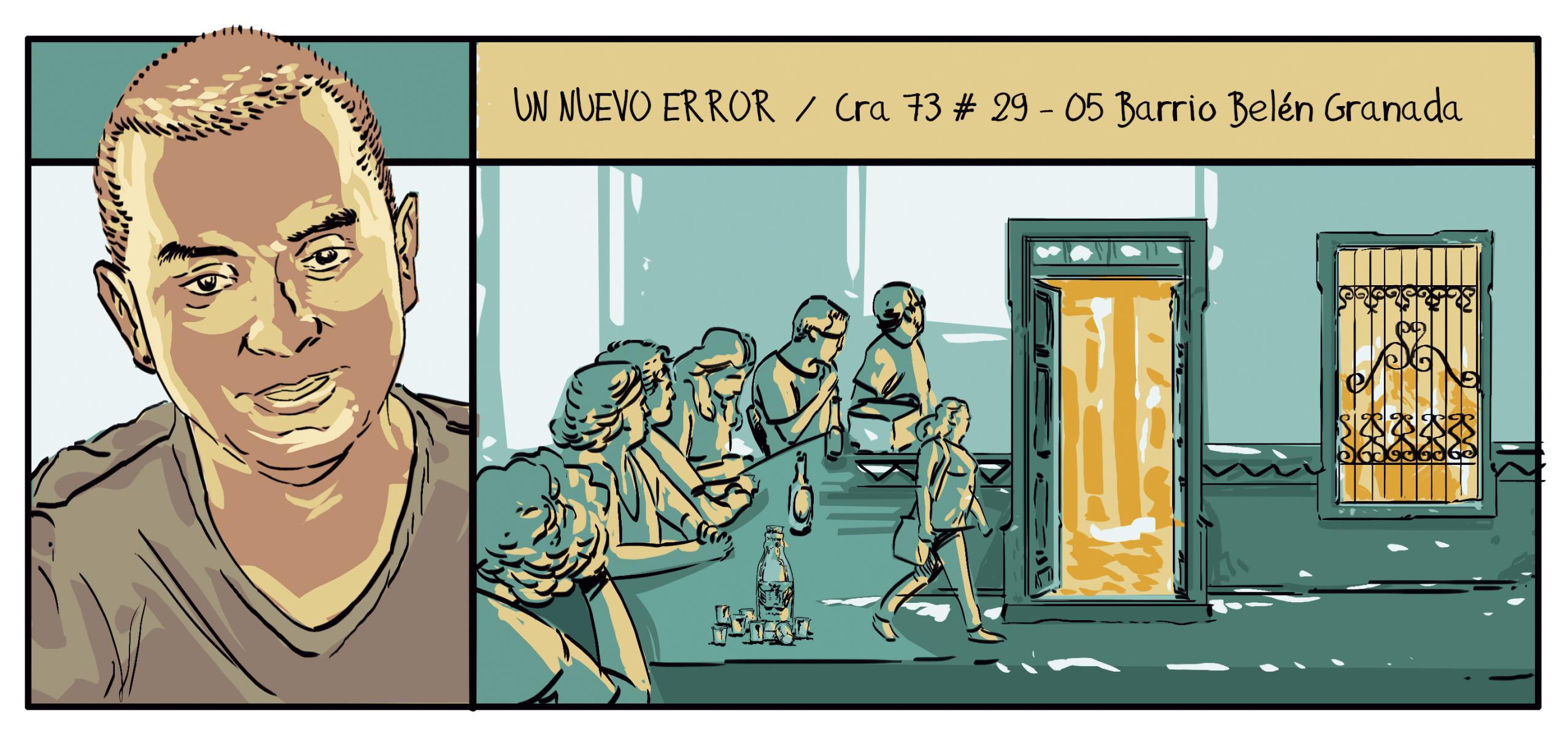 Comic y dibujo en medellín Un Nuevo Error