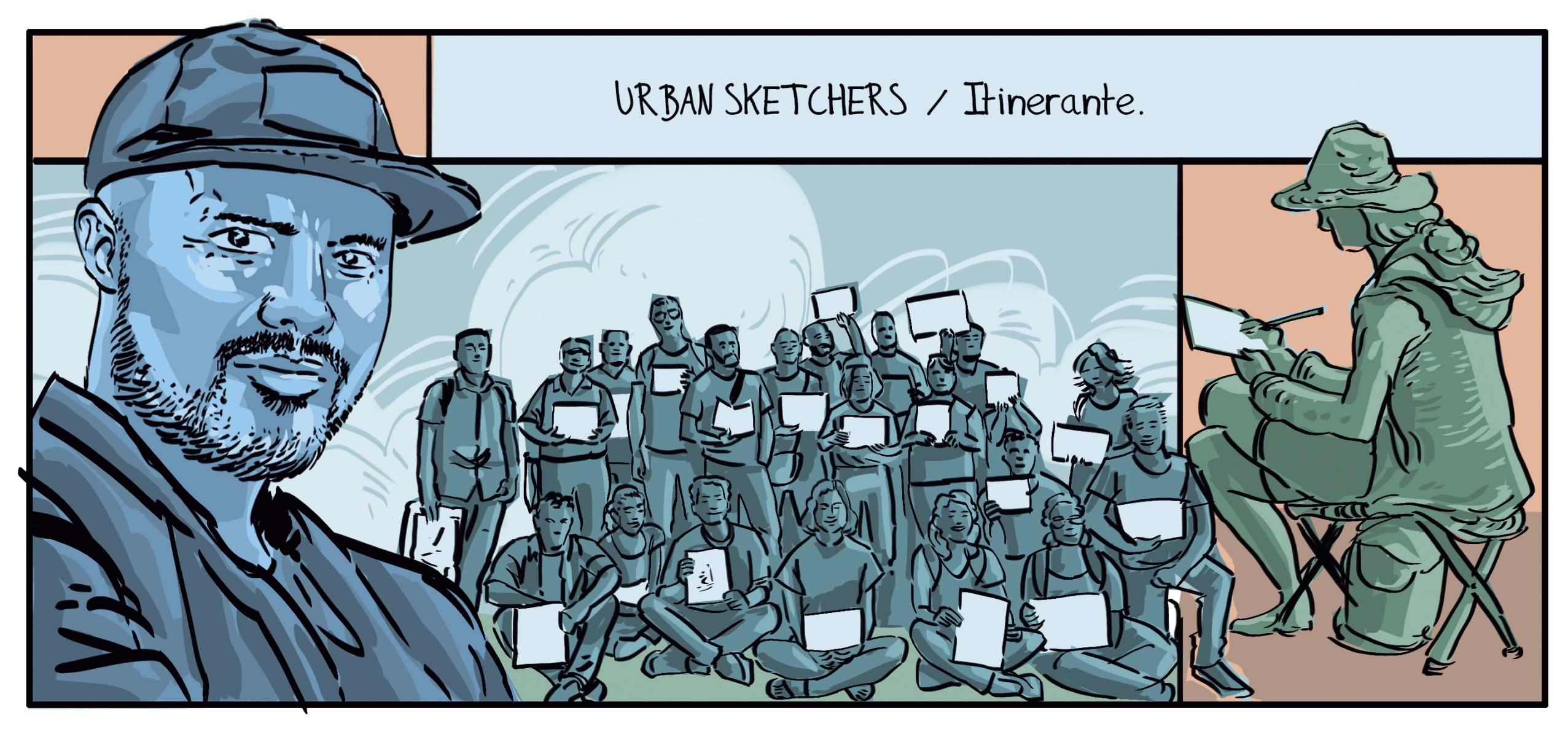 comic y dibujo en medellín urban sketchers Medellín
