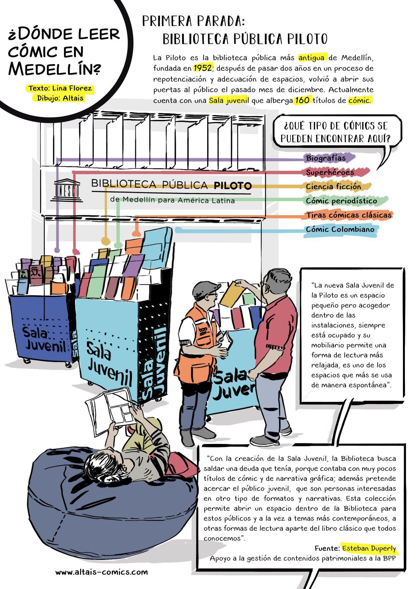 ¿Dónde leer cómic en Medellín?