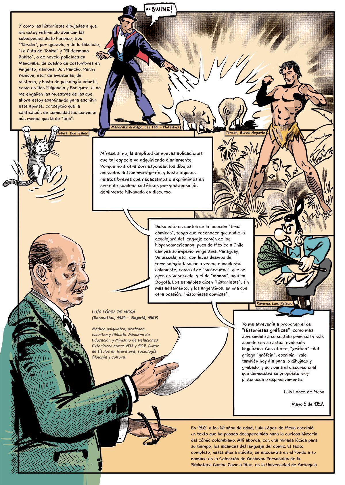 Tiras Cómicas un texto de Luis López de Mesa Comic